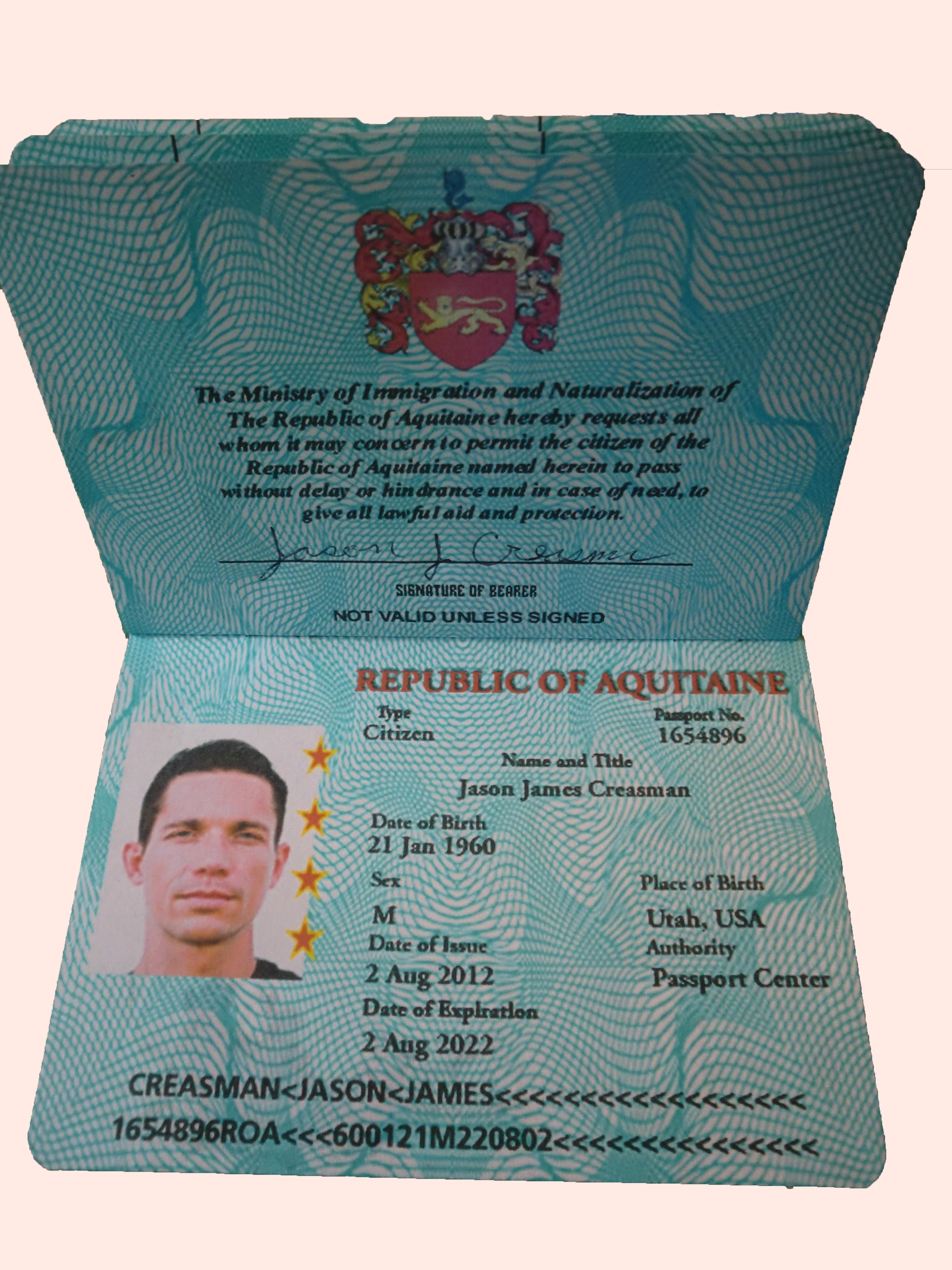 Passports Of The Republic Of Aquitaine